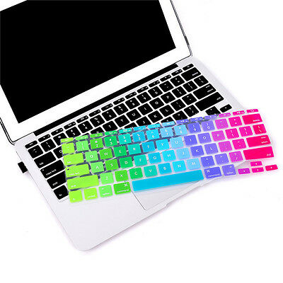 Colorato Arcobaleno Copritastiera Skin per Apple Macbook Air Pro 33cm 38.1cm