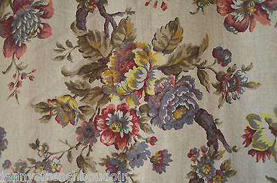 Antique French pure linen curtain, matching valance, pom pom passementerie