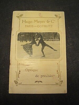 Catalogue Optiques Hugo Meyer & Cie Paris-Goerlitz 1912