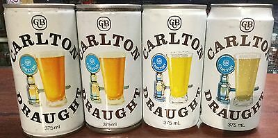 Carlton Draught .375ml.Collector Beer Cans x 4