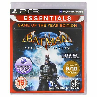 NEW SEALED Batman Arkham Asylum Game of the Year Sony Playstation PS3 Game.