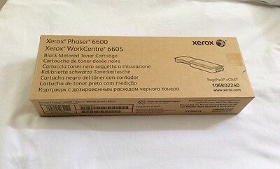 XEROX Phaser 6600 WorkCentre 6605 BLACK Metered Toner Cartridge 106R02240
