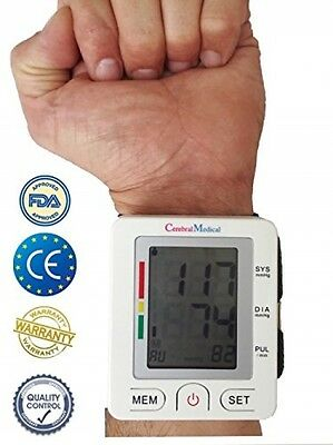 Wrist Blood Pressure Monitor Accurate Easy Beat Pulse Digital Automatic Rate