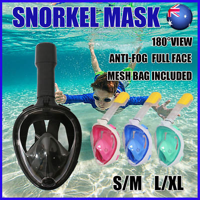 New Full Face Snorkel Mask Scuba Diving Goggles With Breather Pipe For GoPro AU