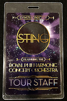 Sting (The Police) - Tour Staff  Laminate Backstage Pass - 2011 Tour ONLY ONE