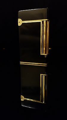 St Dupont Ligne 2 Thin Edition Black Lacquer & Gold Lighter Genuine