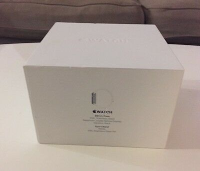 NEW Apple Watch Series 1 38 mm Black Stainless Steel Case with Black Sports Band