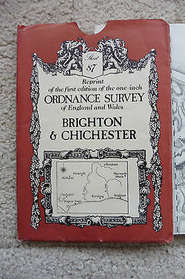 Brighton And Chichester, Reprint of first edition Ordnance Survey Map # 97