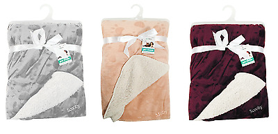 Personalised Large Soft Micro Fleece Luxury Pet Throw Dog Cat Blanket 3 Colours