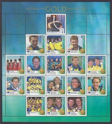 2000 Olympic Gold Medalists Muh M/s Ex Post Year Book (Jd5732)