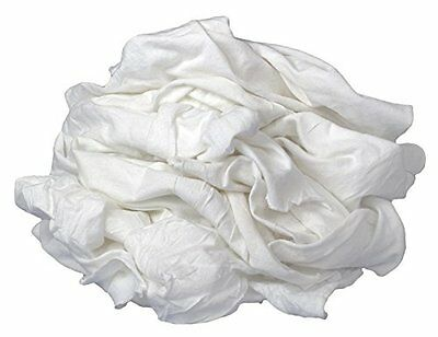 New White TShirt Knit Rags- 5 lbs Bag-100% Cotton-Higly Absorbent-Lint free