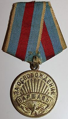 Soviet Russian For Liberation of Warsaw Medal  Badge Order