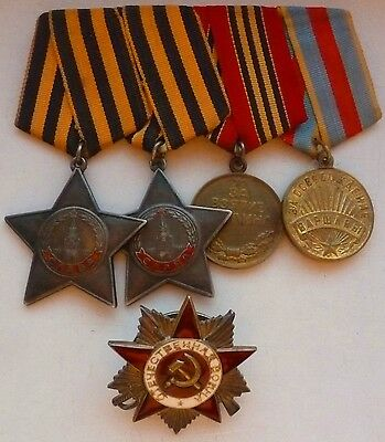 Very Rare Soviet Russian Order Glory 2 & 3 Class Order Badge Medal