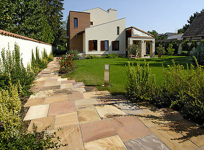 Indian Sandstone Patio Paving Pack Calibrated 22mm - Modak 19M2 Slabs