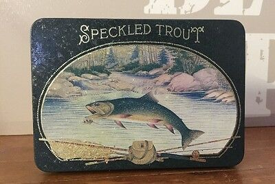 Speckled Trout Collectable Tin ~ Ideal For Fishermen ~ Multi Use