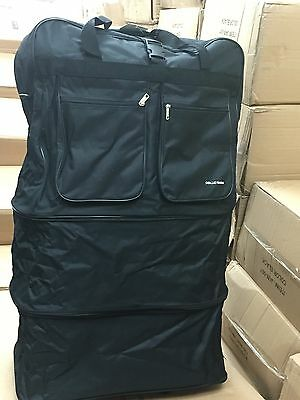 "1 pcs  - 36""EXPANDABLE Rolling Duffle Bag W/Spinner Wheels Unzips Into 3 Size"