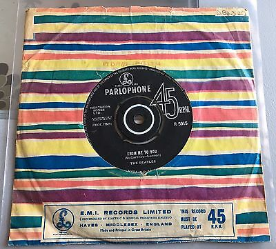 The Beatles Single Uk 1963 From Me To You / Thank You Girl Parlophone Nothern