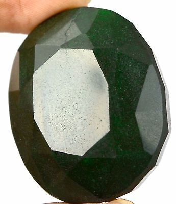 270 Ct. Ebay Nice Natural Oval Shape Green Emerald Loose Gemstone-THANKS GIVING