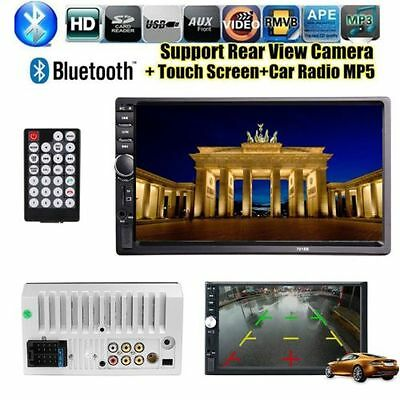 """Double 2Din 7"""" Car  MP3 Player Touch Screen In Dash Stereo Radio HD+Remote"""