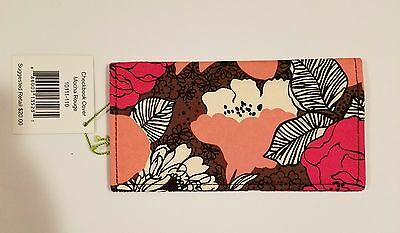 NWT Vera Bradley checkbook cover - MOCHA ROUGE - MINT - NEW - FREE SHIPPING
