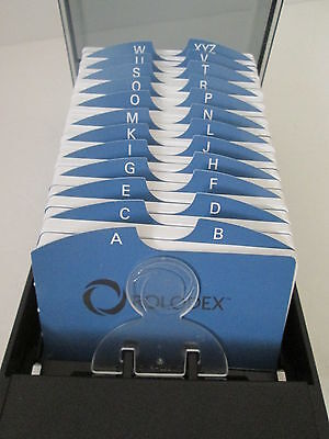 """ROLODEX Index Card Covered Plastic Tray A-Z Office Business Cards 2 1/4"""" x 4"""""""