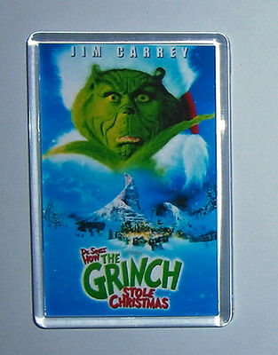 How the Grinch Stole Christmas Jim Carrey movie poster fridge magnet Keyring New