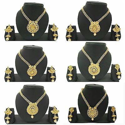 Traditional Indian Ethnic Bollywood Bridal Fashion Jewelry Gold Plated Necklace