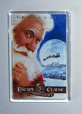 The Santa Clause 3 The Escape Clause Tim Allen movie poster Magnet Keyring New