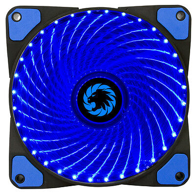 Game Max Mistral 32 x Blue LED Hydraulic Bearing 120mm PC Case Cooling Fan