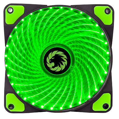 Game Max Mistral 32 x Green LED Hydraulic Bearing 120mm PC Case Cooling Fan