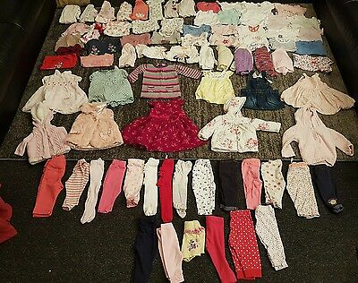 baby girls 3-6 months clothes bundle 83 items