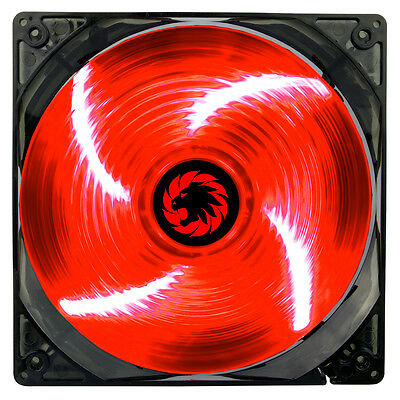 Game Max Sirocco 4 x Red LED Hydraulic Bearing 120mm PC Case Cooling Fan