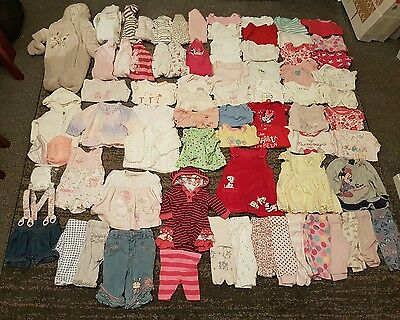 tiny baby/ first size/ newborn girls clothes bundle 76 items