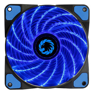 Game Max Storm Force 15 x Blue LED Hydraulic Bearings 120mm PC Case Cooling Fan