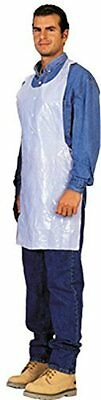 Disposable White Poly Aprons 1 Box (100 Count)