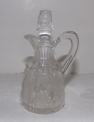 Westmoreland Princess Feather Oil or Vinegar CRUET with Stopper