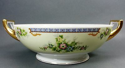 Meito Fine China Cecil Pattern Open Vegetable Dish Japan Hand Painted