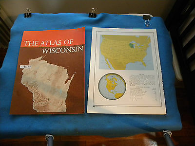 PORTIONS of 1974 ATLAS OF WISCONSIN (see text) vintage (not complete) maps