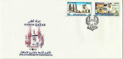 Year 2000 Qatar Fdc - Independence Anniversary - First Day Cover