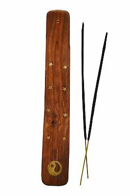 New Wooden Incense Stick Holder Ash Catcher Joss Burner Home Spirituality