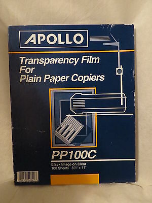 APOLLO PP100C Overhead Transparency Film for PLAIN PAPER COPIER 85 Sheets