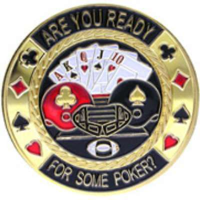 Poker Protector Card Guard Cover in Capsule :  Are You Ready For Some Poker?