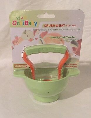 New Onbi Baby Crush & Eat Baby Bowl - Make Your Own Baby Food!