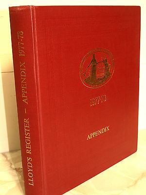 Lloyds Register of Shipping. Appendix 1977-1978  Withdrawn from Lloyds Library,