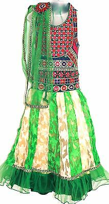 Kutchi work Ghagra choli Lacha Chanya Choli lehanga Langa Skirts  5 and 10 yrs