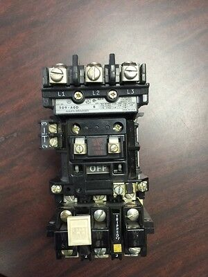 Used, Allen-Bradley 509-Aod Size 0 Contactor, 120V. Coil,