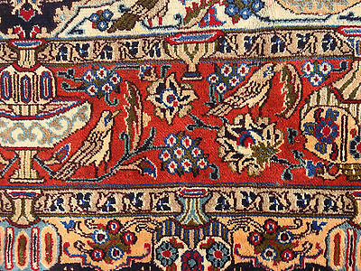 8x11 HAND KNOTTED WOVEN PERSIAN ANTIQUE AREA RUG IRAN WOOL 8 x 11 RUGS 10 7 blue