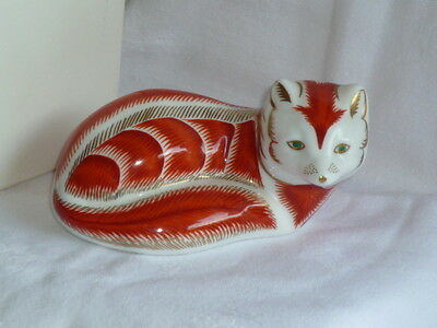 Royal Crown Derby    RED  FOX    Paperweight.