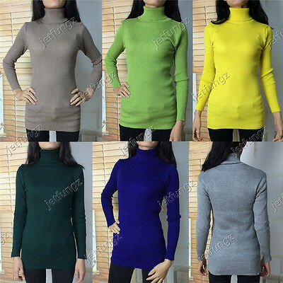 10X Wholesale Lot Womens Turtleneck Sweaters Pullover Long Sleeve Knitting Tops