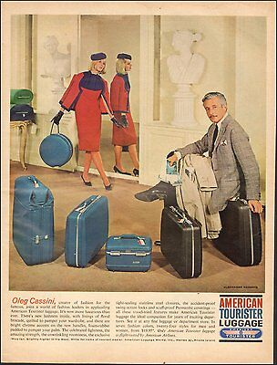 1963 Vintage ad for American Tourister Luggage`Retro Fashions Photo   (083016)